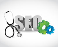 Seo medical and industrial sign. illustration Royalty Free Stock Images