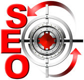 SEO Metal Target Royalty Free Stock Photo