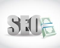 Seo money concept illustration design Royalty Free Stock Image