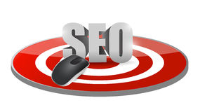 Seo mouse target illustration design Stock Photos