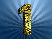 SEO No. 1. No. 1 in page rank by search engine optimizing - rendering Royalty Free Stock Photo