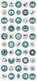 SEO och marknadsföringssymboler Fotografering för Bildbyråer