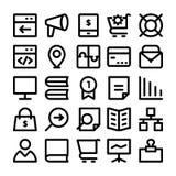 SEO och marknadsföringssymboler 7 Arkivfoto