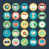SEO och marknadsföringsvektorsymboler 4 Fotografering för Bildbyråer