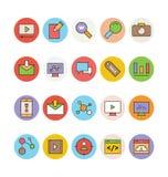 SEO och marknadsföringsvektorsymboler 3 Arkivbild