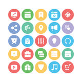 SEO och marknadsföringsvektorsymboler 3 Fotografering för Bildbyråer