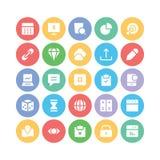 SEO och marknadsföringsvektorsymboler 6 Arkivbild
