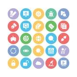 SEO och marknadsföringsvektorsymboler 1 Arkivfoton
