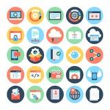 SEO och marknadsföringsvektorsymboler 7 Fotografering för Bildbyråer