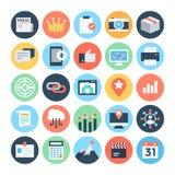 SEO och marknadsföringsvektorsymboler 5 Royaltyfria Bilder