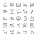 SEO och symboler 1 för vektor för internetmarknadsföring kalla Arkivfoton