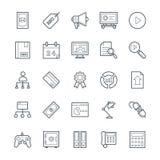 SEO och symboler 4 för vektor för internetmarknadsföring kalla Royaltyfria Bilder