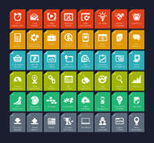 SEO och utvecklingssymbolsuppsättning Fotografering för Bildbyråer