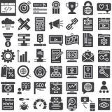 Seo online marketing vector geplaatste pictogrammen vector illustratie