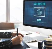 SEO Online Website Web Hosting-Technologieconcept stock fotografie