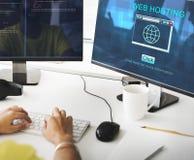 SEO Online Website Web Hosting Technology Concept. SEO Web Hosting Technology Concept Stock Photo