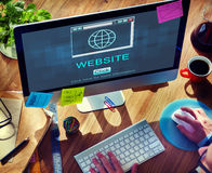 SEO Online Website Web Hosting teknologibegrepp Arkivfoto