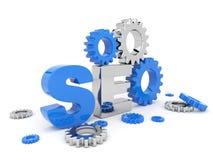 SEO Optimierung. Abbildung 3D. Getrennt Lizenzfreie Stockfotos