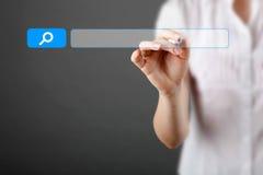SEO - optimisation de moteur de recherche et concept de recherche de Web Image libre de droits