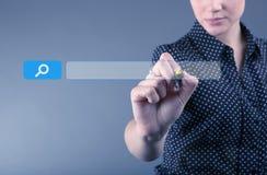 SEO - optimisation de moteur de recherche et concept de recherche de Web Photographie stock libre de droits