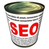SEO (optimisation de moteur de recherche) - pouvez de SEO instantané Photographie stock libre de droits