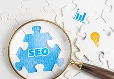 SEO - Optimización del Search Engine Foto de archivo