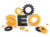 SEO optimization. 3D illustration. Isolated Stock Photo