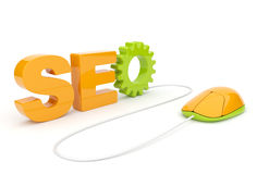 SEO optimization. 3D illustration. Isolated Royalty Free Stock Photos