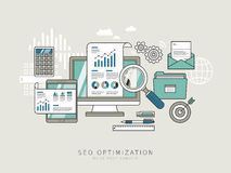 SEO optimization concept Stock Photography
