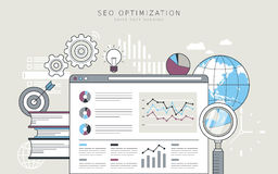 SEO optimization concept Royalty Free Stock Image