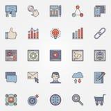 SEO optimization icons set Royalty Free Stock Photos