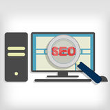 Seo optimization in pc Royalty Free Stock Photo