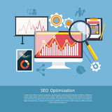 SEO optimization, programming process Royalty Free Stock Photos