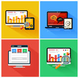 Seo optimization, programming process Royalty Free Stock Photos