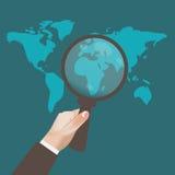 SEO Optimization, rengöringsduk, Analytics, begrepp, gemkonst, illustration Arkivfoton