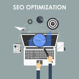 SEO-optimization som programmerar process Arkivfoton