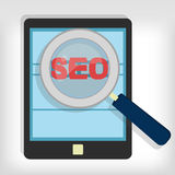 Seo optimization in tablet Stock Images