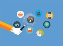 SEO Optimization,Web Analytics Flat Concept Vector Stock Photos