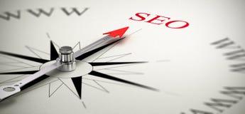 SEO - Ottimizzazione del motore di ricerca Fotografia Stock