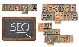 SEO - ottimizzazione di Search Engine Immagine Stock