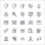 SEO Outline Icons set vector Royalty Free Stock Photography