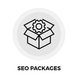 SEO Packages Line Icon Photographie stock libre de droits