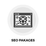 SEO Packages Line Icon Royalty Free Stock Photo