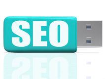 SEO Pen drive Means Online Search And Development Stock Images