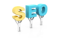 Seo with people Royalty Free Stock Photo