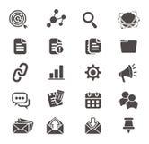 SEO-pictogramreeksen Stock Afbeeldingen