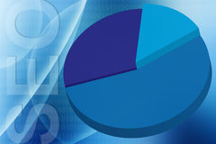 Seo pie graph illustration Stock Photos