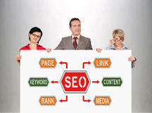 Seo plan Royaltyfria Bilder
