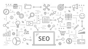 SEO plan animation.