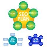 SEO planerar stock illustrationer